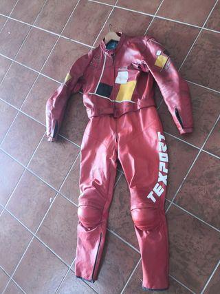 mono cuero moto 2 piezas texport