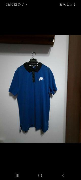 Polo Nike azul talla L estado 9/10