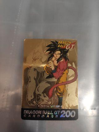 carta dragon ball gt golden carddass 200
