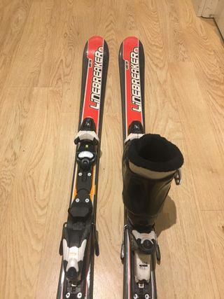 Esquís Linebreaker y Botas Salomon