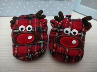zapatillas navidad bebé 0-3 meses