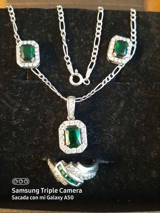 lote de pendientes,anillo,cadena,colgante925.A1