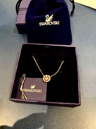 Collar Swarovski Sparkling Dance Round (oro rosa )