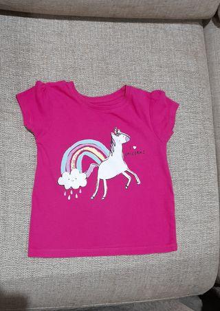 camiseta de manga corta, talla 12-18meses