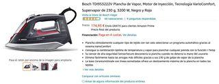 Bosch Plancha de Vapor de 230 g, 3200 W