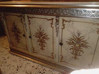 taquillon recibidor vintage madera pintado flores