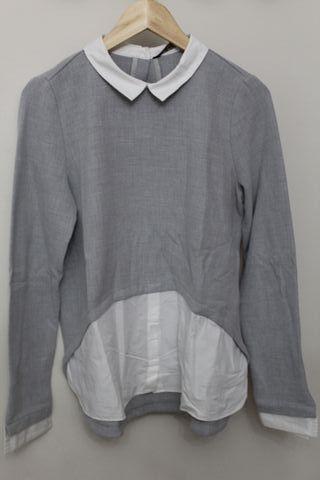 Sudadera fina con camisa incluida