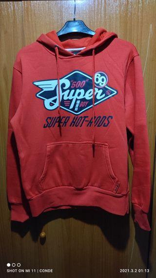 Jersey rojo capucha