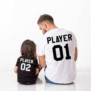 camiseta padre madre e hijo o hija