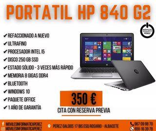 PORTÁTIL HP 840 G2 2 AÑOS GARANTIA IMPECABLE
