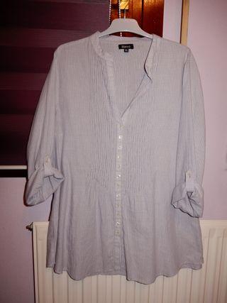 Camisa mujer Blanco manga larga Talla XL
