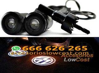 BT000303 - KIT DE DOS PROYECTORES LED LOGO VOLKSWAGEN PARA PUERTAS DEL COCHE.