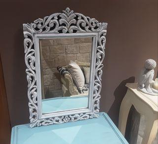 Antiguo espejo de Madera Restaurado