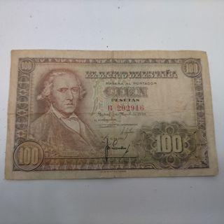 Billetes 100 pesetas