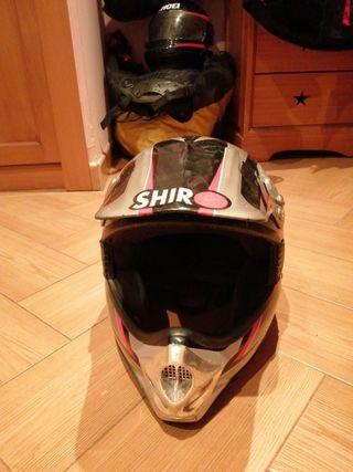 Casco Moto Cross Shiro talla L