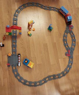 Tren Lego DUPLO y camion volquete