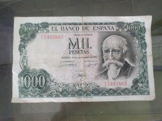 Billete de mil pesetas