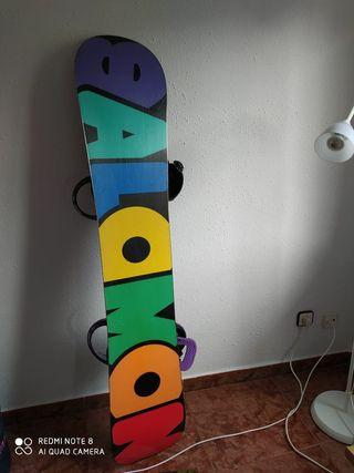 Tabla snowboard Salomon con fijaciones Burton