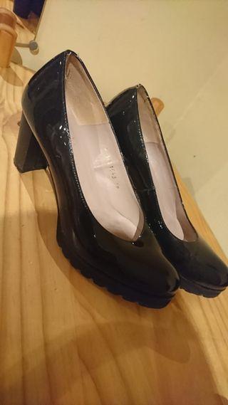 Zapatos de tacón alto, plataforma, n°39