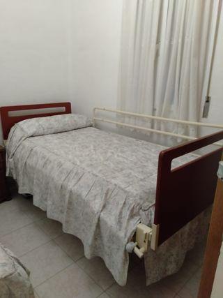 cama articulada + colchón antiescaras