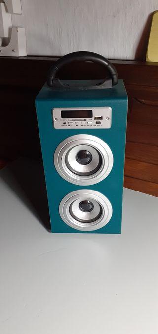 COLUMNA RADIO con mando a distancia cargador USB