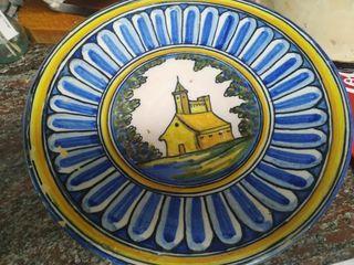 plato de cerámica talavera