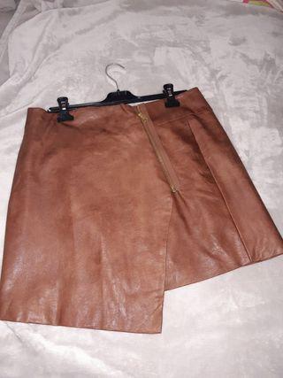 Falda piel H&M