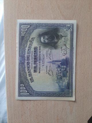 1000 pesetas 1928 San Fernando EBC