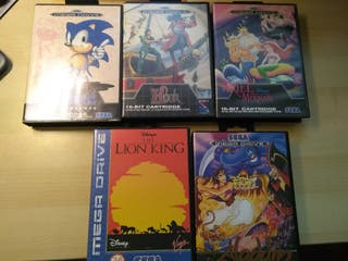 Pack de videojuegos SEGA. Cartuchos originales