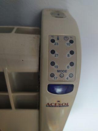 radiador eléctrico calor azul sin uso