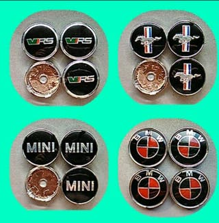 Tapabujes centro rueda:Mustang,Mini,skoda VRS,BMW
