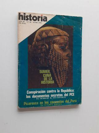 Revista antigua; historia. 1978.