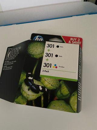 Cartuchos de tinta HP 301