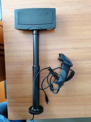 escaner con visor para tpv