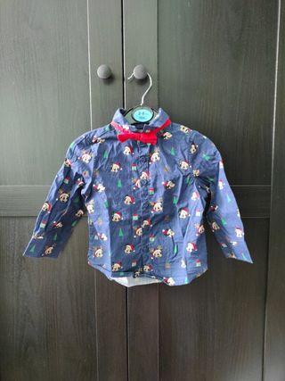 camisa navidad Mickey mouse talla 9-12 meses