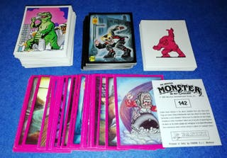 LOTE 210 CROMOS DIF. MONSTER IN MY POCKET + REGALO