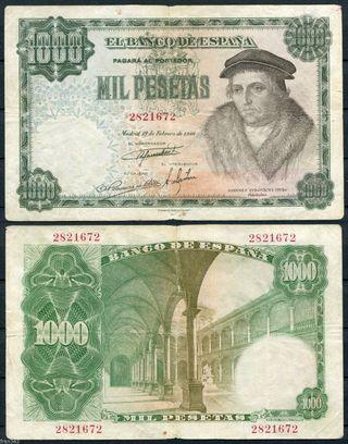 Billete de 1000 pesetas (con mi cara)