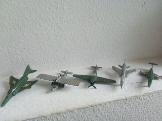Colección de 5 aviones de metal