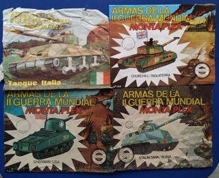 4 Sobres vacíos Montaplex, serie tanques.