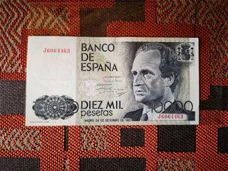 billete de 10000 pesetas 1985