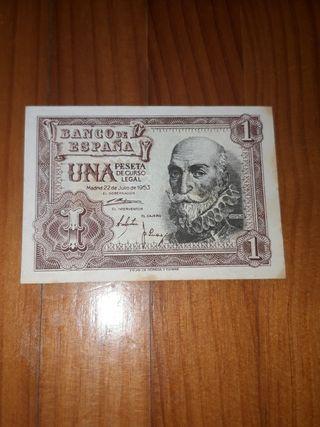 Billete una peseta 22 julio 1953