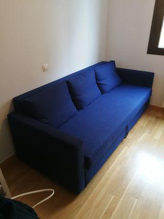 Sofá cama Friheten 3 plazas azul