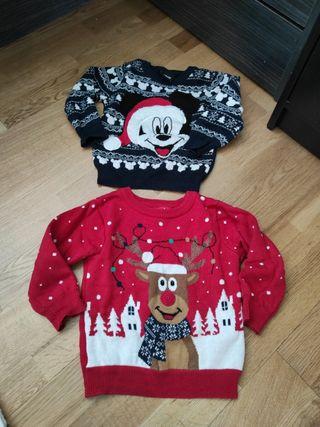 pack dos jerseys/sudaderas navidad 9-12 meses