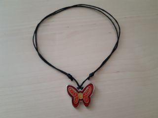 collar con colgante mariposa nuevo a estrenar