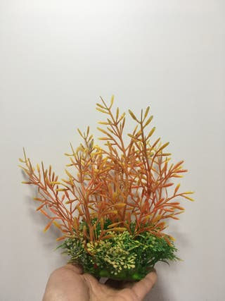 Planta artificial acuario