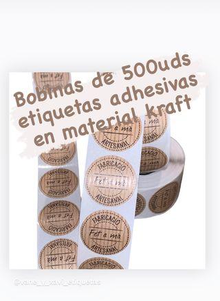Etiquetas adhesivas material jraft