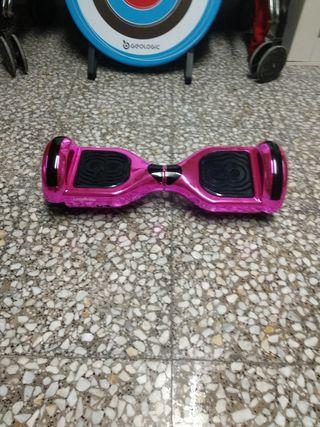 hoverboard rosa metalizado + car + funda