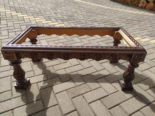 Estructura mesa de centro de madera antigüa