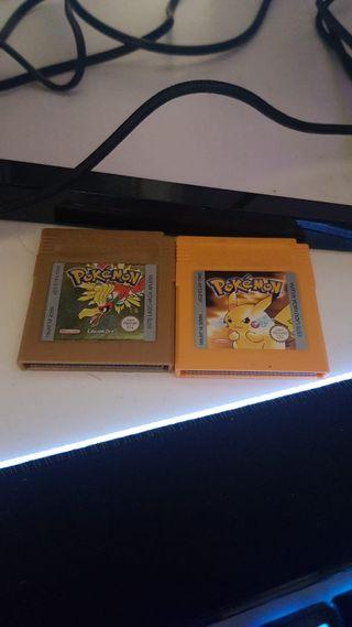 Pokemon Oro Y Pokemon Amarillo Game Boy