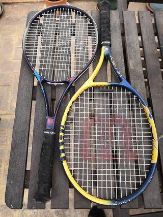 Dos raquetas tenis